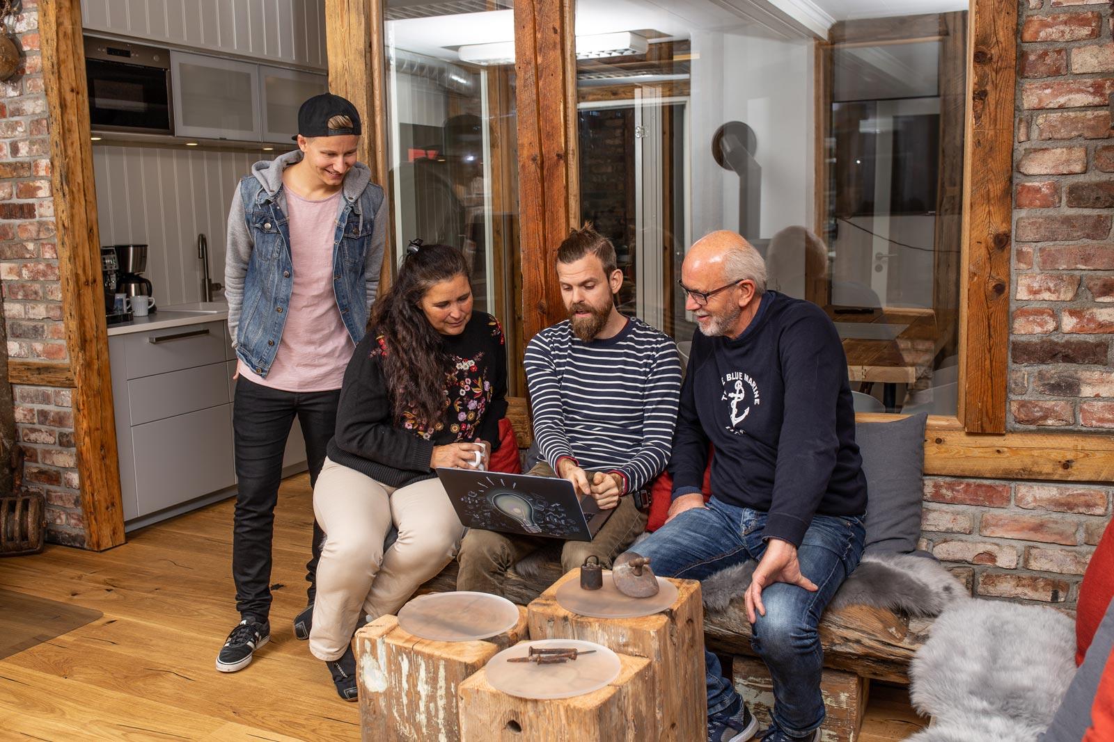 Farsund Coworks - André, Patricia, Martin og Kjell Rune